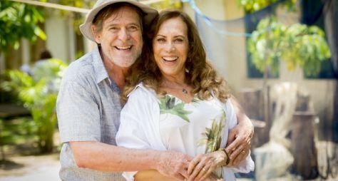Arlete Salles e José de Abreu gravam cenas da próxima novela das nove