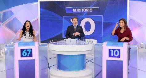 Programa Silvio Santos recebe Rafaella Viscardi e Mara Maravilha