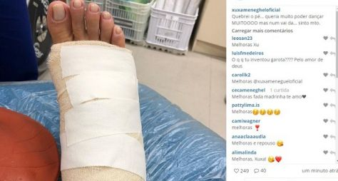 Xuxa quebra o pé e preocupa equipe do Dancing Brasil