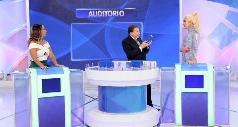Programa Silvio Santos traz Valesca Popozuda e Aretuza Lovi no Jogo das 3 Pistas