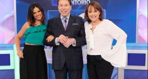 Programa Silvio Santos recebe Suzana Alves e Myrian Rios