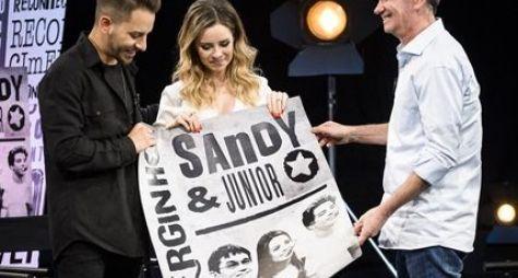 Serginho Groisman lança novo quadro no Linha do Tempo, com Sandy e Junior