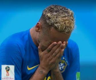 Neymar cai no choro. Foto: Reprodução/Globo