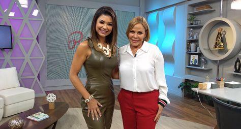 Amanda Françozo tem encontro com Claudete Troiano na TV Aparecida