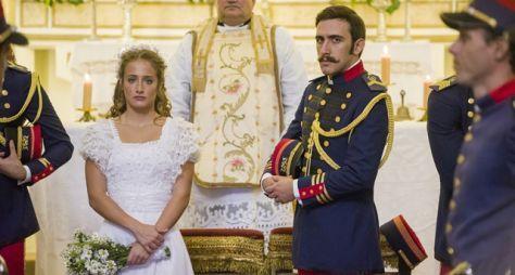 Orgulho e Paixão: Lídia anuncia gravidez no altar e desiste de casar com Otávio
