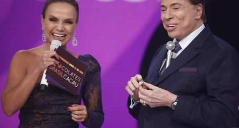 Silvio Santos grava participação em quadro do programa Eliana