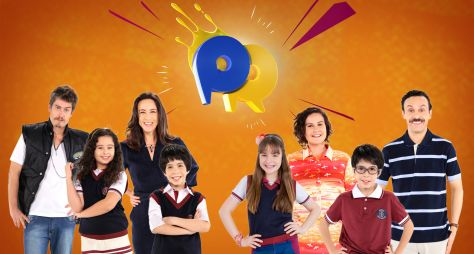 "Elenco da novela do SBT ""As Aventuras de Poliana"" participa do Passa ou Repassa"