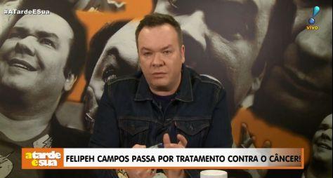 Ao vivo na TV, Felipeh Campos anuncia luta contra câncer