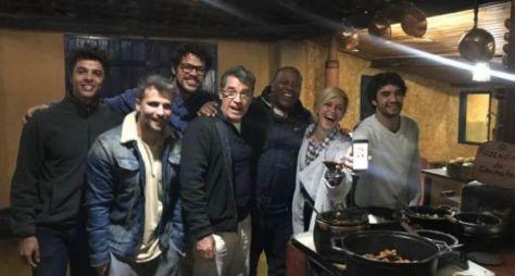 O Sétimo Guardião:Paulo Betti publica foto do bastidor do expediente de gravação