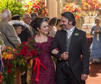 Orgulho e Paixão: Julieta e Aurélio dizem sim ao lado de Camilo e Jane