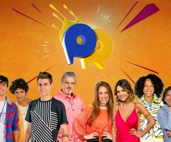 Elenco da novela do SBT As Aventuras de Poliana se enfrentam no Passa ou Repassa