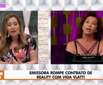 Record TV rompe contrato de Vida Vlatt e Sônia Abrão se sente culpada