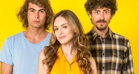 O trio de protagonistas da novela Verão 90