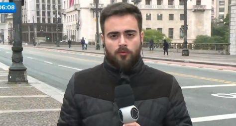 Ao vivo, repórter do Balanço Geral Manhã tem crise estresse