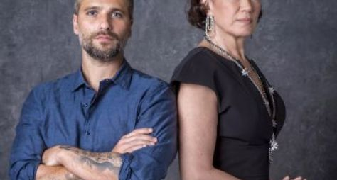 Bruno Gagliasso comemora parceria com Lilia Cabral