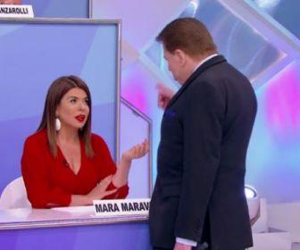 """""""Você foi salva pela filha do dono"""", diz Silvio Santos para Mara Maravilha"""