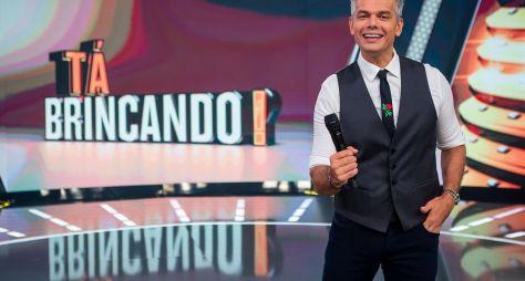 """Otaviano Costa se emociona em coletiva de """"Tá Brincando?"""""""
