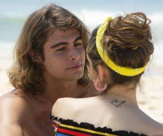 Isabelle Drummond e Rafael Vitti gravam cenas de Verão 90