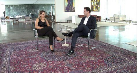 Domingo Espetacular entrevista a primeira-dama, Michelle Bolsonaro