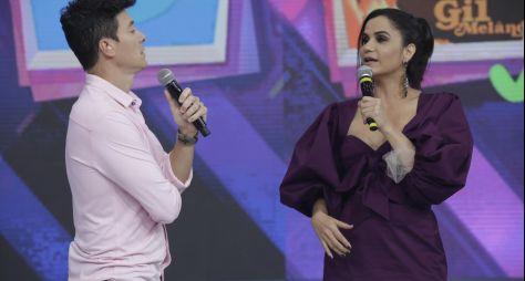 Rodrigo Faro reúne os cantores Gilmelândia e Carlinhos PO Box em desafio musical