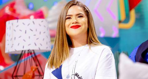"""Fernanda Souza e o humorista MatheusCeará na estreia do """"Programa da Maisa"""""""