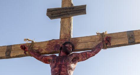 A crucificação de Jesus: Emoções finais da trama bíblica da Record TV!
