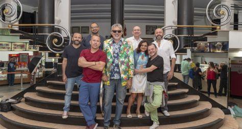 """Coletiva de """"Cine Holliúdy"""" reúne elenco, autores e diretores"""