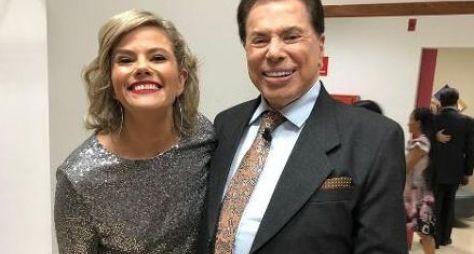 """Maria Cândida e Sônia Abrão gravam quadro do """"Programa Silvio Santos"""""""