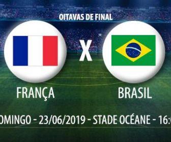Seleção feminina encara a anfitriã França nas oitavas de final da Copa do Mundo