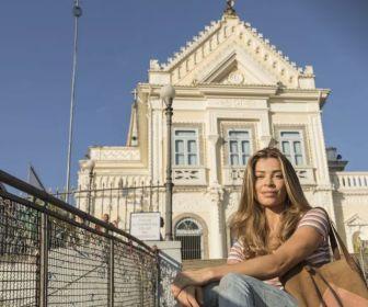 """Grazi Massafera volta à Igreja da Penha em gravação de """"Bom Sucesso"""""""