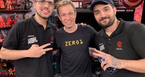 """Tiago Leifert recebe os jogadores de e-sports BRTT e Robô no """"Zero1"""""""
