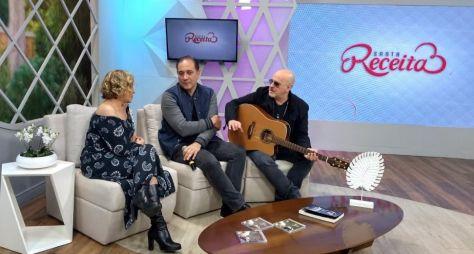 Claudete Troiano tem dia de rock com Biquíni Cavadão na TV Aparecida