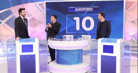 Silvio Santos recebe Danilo Gentili e Rafael Cortez neste domingo (04)