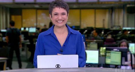 Sandra Annenberg se emociona ao se despedir da bancada do Jornal Hoje