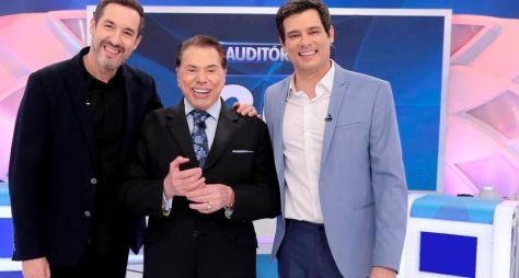 Celso Portiolli e Alê Costa são os convidados do Programa Silvio Santos