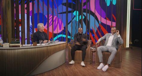 Conversa com Bial recebe Léo Santana e Érico Brás
