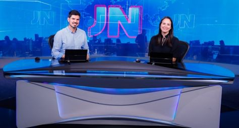 Fabian Londero, de Santa Catarina, e Aline Ferreira, do Amapá, no JN