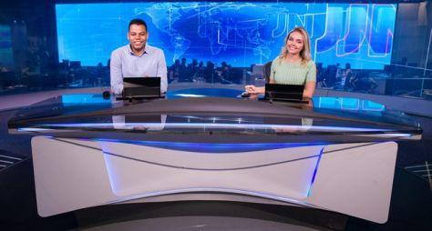 Tiago Rogeh, de Tocantins, e Taís Lopes, do Ceará, apresentam o Jornal Nacional