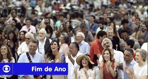 Globo reúne elenco para gravar mensagem de fim de ano