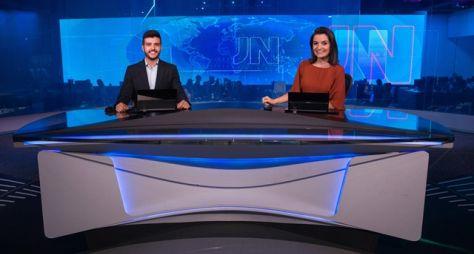 Matheus Ribeiro, de Goiás, e Larissa Pereira, da Paraíba, apresentam o JN