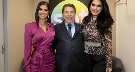 Programa Silvio Santos recebe as misses Julia Horta e Natália Guimarães