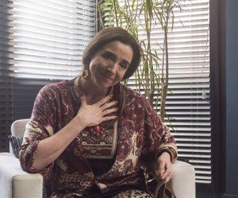 Marisa Orth interpreta falsa terapeuta de casais contratada por Diogo