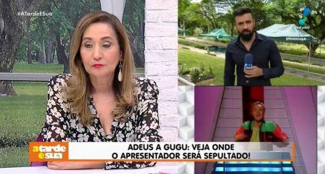 Sonia Abrão, Olga Bongiovanni e João Kléber prestam homenagem a Gugu