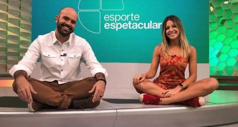 Bárbara Coelho e Lucas Gutierrez agradam no comando do Esporte Espetacular