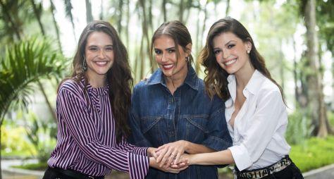 Deborah Secco, Juliana Paiva e Vitória Strada comentam sobre Salve-se Quem Puder