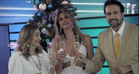 Elenco da RedeTV! se reúne para gravação de vinheta de fim de ano