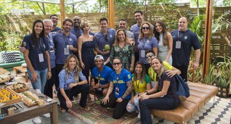 Atletas brasileiros visitam os Estúdios Globo na contagem regressiva para Tóquio