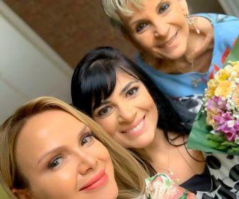 Fernanda Brum é surpreendida com festa de aniversário no Programa Eliana