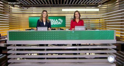 Após críticas, Record TV troca as cores do cenário do Fala Brasil