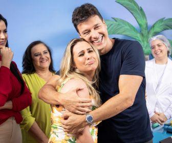 """Conrado e Rodrigo Faro pregam peça em Andréa Sorvetão no quadro """"Faro Surpresa"""""""